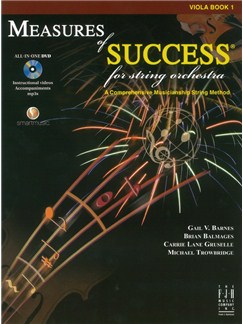 Measures Of Success For String Orchestra: Viola - Book 1 (Book/DVD) Books and DVDs / Videos | Viola