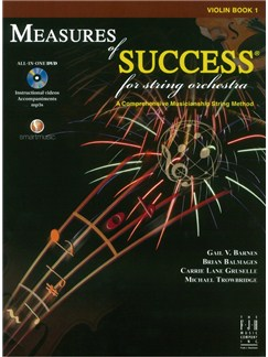 Measures Of Success For String Orchestra: Violin - Book 1 (Book/DVD) Books and DVDs / Videos | Violin