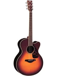 Yamaha: FJX730SE Cutaway Electro-Acoustic Guitar (Brown-Sunburst Finish) Instruments | Electro-Acoustic Guitar