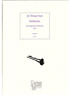 J.S. Bach: 15 Three Part Sinfornias Books | Clarinet, Alto Flute