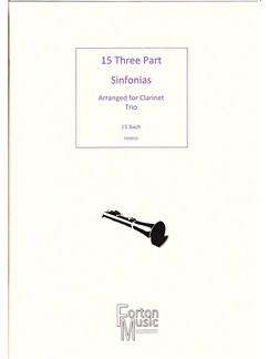 J.S. Bach: 15 Three Part Sinfornias Books   Clarinet, Alto Flute