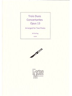 W Ferling: Trois Duos Concertante Books | Flute, Ensemble