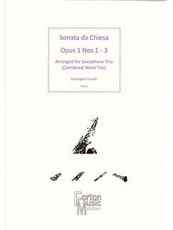 Arcangelo Corelli: Sonata Da Chiesa Op.1 Nos 1-3 (Saxophone Ensemble) Books | Saxophone
