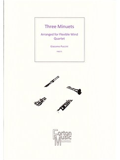 Giacomo Puccini: Three Minuets Books | Wind Instruments
