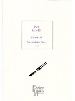 W A Mozart: Duo Kv423 Books   Flute