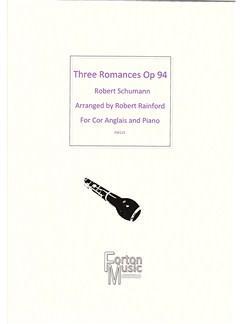 Robert Schumann: Three Romances Opus 94 Books | Cor Anglais