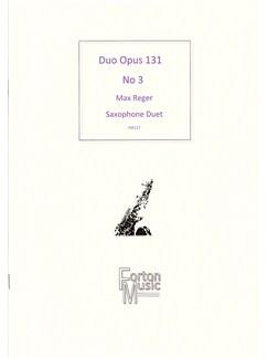 Max Reger: Duo Opus 131 No.3 (Saxophone Duet) Books | Saxophone