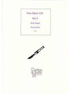 Max Reger: Duo Opus 131 No.3 (Flute Duet) Books | Flute
