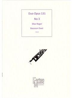 Max Reger: Duo Opus 131 No.3 (Bassoon Duet) Books | Bassoon