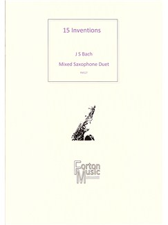 J.S. Bach: 15 2-Part Inventions Books | Alto Saxophone