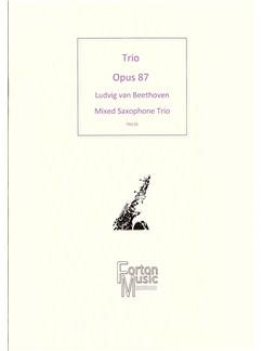 Ludwig Van Beethoven: Trio Opus 87 Books | Saxophone