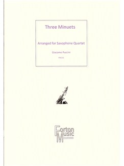 Giacomo Puccini: Three Minuets Books | Saxophone