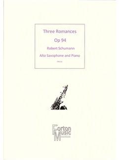Robert Schumann: Three Romances Books | Alto Saxophone