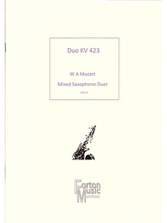 W A Mozart: Duo Kv423 Books | Alto Saxophone