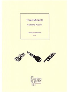 Giacomo Puccini: Three Minuets Books | Bassoon, Oboe