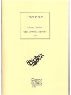 Alfonso Cavallaro: Three Pieces Books | Flute, Oboe, Piano Accompaniment