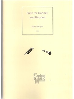 Marc Douyon: Suite for Clarinet and Bassoon Books | Bassoon, Clarinet