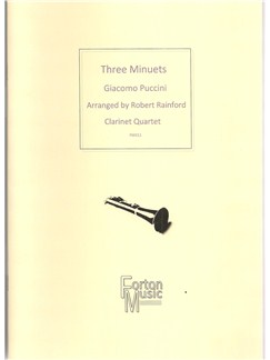 Giacomo Puccini: Three Minuets Books | Clarinet, Ensemble