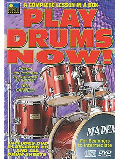 Play Drums Now! A Complete Lesson In A Box Vol 1 DVDs / Videos | Drums
