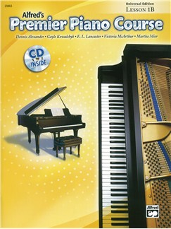 Alfred's Premier Piano Course - Lesson 1B (Book And CD) Books and CDs | Piano