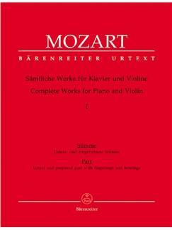 W.A. Mozart: Complete Works For Violin And Piano - Volume 1 Libro | Violín, Acompañamiento de Piano