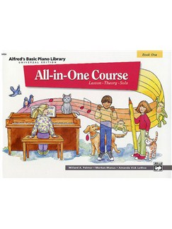 Alfred's Basic Piano Library: All-In-One Course Book One Bog | Klaver solo