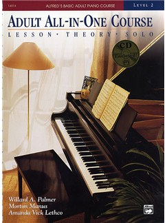 Alfred's Basic Adult Piano Course: Adult All-In-One Level 2 Books and CDs | Piano