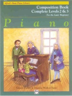 Alfred's Basic Piano Library: Composition Book Complete Levels Two And Three - For The Later Beginner Books | Piano