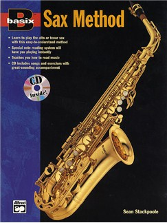 Basix Saxophone Method (Book/CD) Books and CDs | Alto Saxophone, Tenor Saxophone