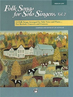 Folk Songs For Solo Singers Volume 2 (Medium/Low Voice) Books | Medium Voice, Low Voice, Piano Accompaniment