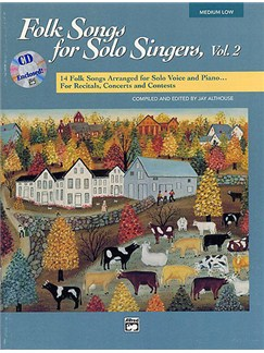 Folk Songs For Solo Singers Book 2 - Medium/Low Voice (CD Edition) Books and CDs | Medium or Low Voice, Piano Accompaniment