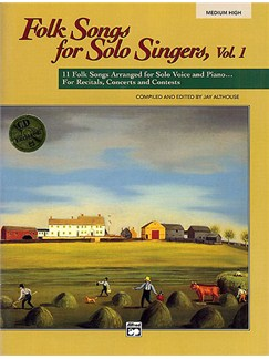Folk Songs For Solo Singers Volume 1 - Medium/High Voice (CD Edition) Books and CDs | Medium or High Voice, Piano Accompaniment