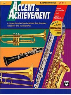 Accent On Achievement: E Flat Alto Saxophone Book 1 Books and CDs | E Flat Instruments, Alto Saxophone