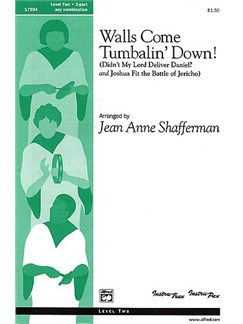 Walls Come Tumbalin' Down! (2 Part Any Combination) Books | 2-Part Choir, Piano Accompaniment