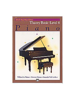 Alfred's Basic Piano Library: Theory Book Level 6 Books | Piano