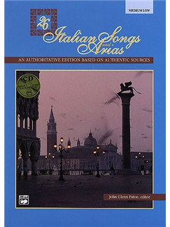 26 Italian Songs And Arias (Medium/Low Voice) (Book/CD) Books and CDs | Medium Voice, Low Voice, Piano Accompaniment