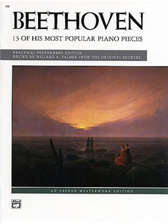 Beethoven: 13 Of His Most Popular Pieces Books | Piano