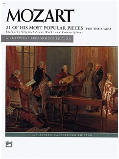 Mozart: 21 Of His Most Popular Pieces For The Piano Books | Piano