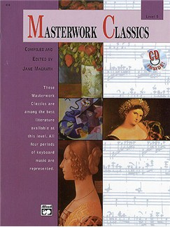Masterwork Classics: Level 5 (Book/CD) Books and CDs | Piano or Organ or Keyboard