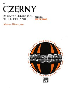 Carl Czerny: Twenty Four Easy Studies For The Left Hand Op.718 Books | Piano