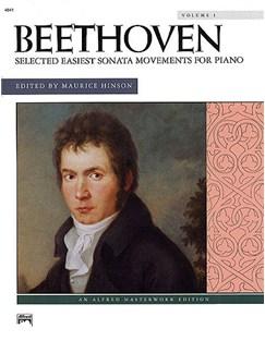 Ludwig Van Beethoven: Selected Easiest Sonata Movements Volume 1 Books | Piano