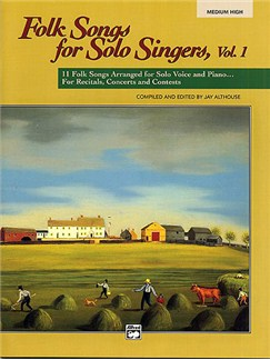 Folk Songs For Solo Singers - Book One (Medium High) Books | Voice, Piano Accompaniment