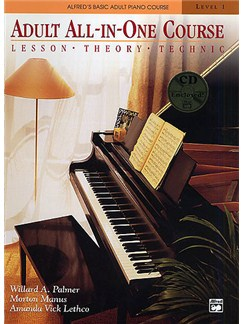 Alfred's Basic Piano Library: Adult All-In-One Course Level 1 Books and CDs | Piano