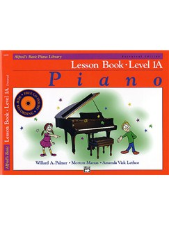Alfred's Basic Piano Library: Lesson Book Level 1A (Book/CD) Books and CDs | Piano