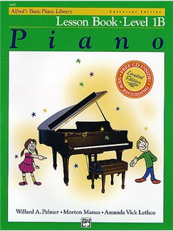 Alfred's Basic Piano Library: Lesson Book Level 1B (Book/CD) CD y Libro | Piano