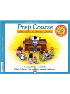Alfred's Prep Course Lesson Book Level B Books and CDs | Piano