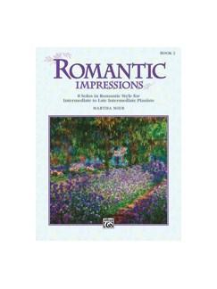 Martha Mier: Romantic Impressions (Book Two) Books | Piano