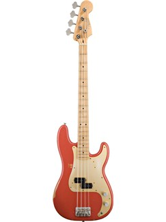 Fender: Road Worn '50s Precision Bass (Fiesta Red) Instruments | Bass Guitar