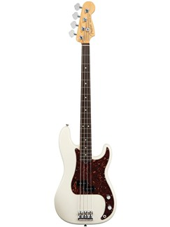 Fender: American Standard Precision Bass - Rosewood (Olympic White) Instruments | Bass Guitar