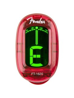Fender: FT-1620 California Series Clip On Tuner - Candy Apple Red  |
